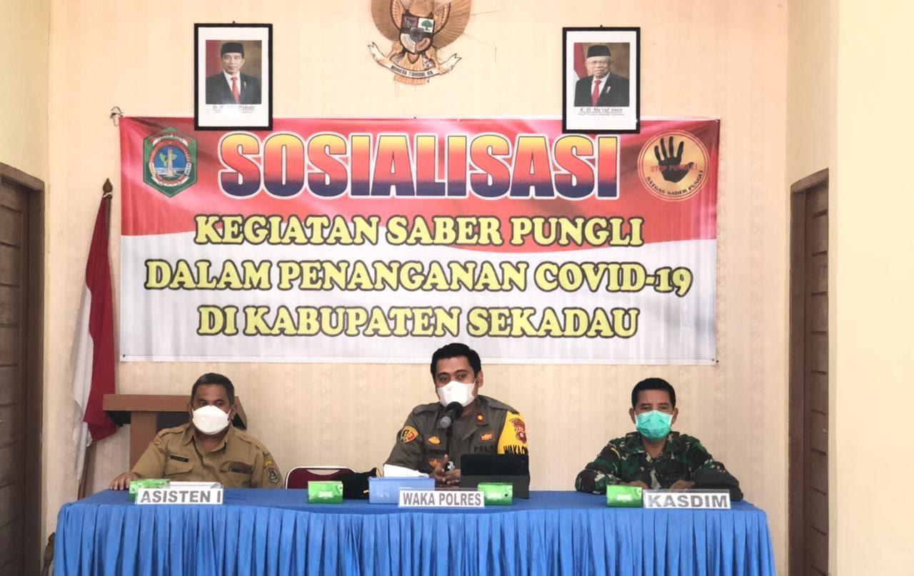 Sosialisasi Saber Pungli, Bahas Dana Penanganan Covid-19 di Kabupaten Sekadau