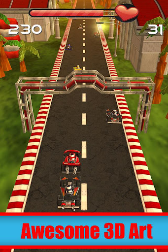 Go Kart Cartoon Racing 3D