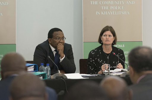 Vusi Pikoli and Kate O'Regan at the start of the Khayelitsha commission of inquiry. Picture: TREVOR SAMSON