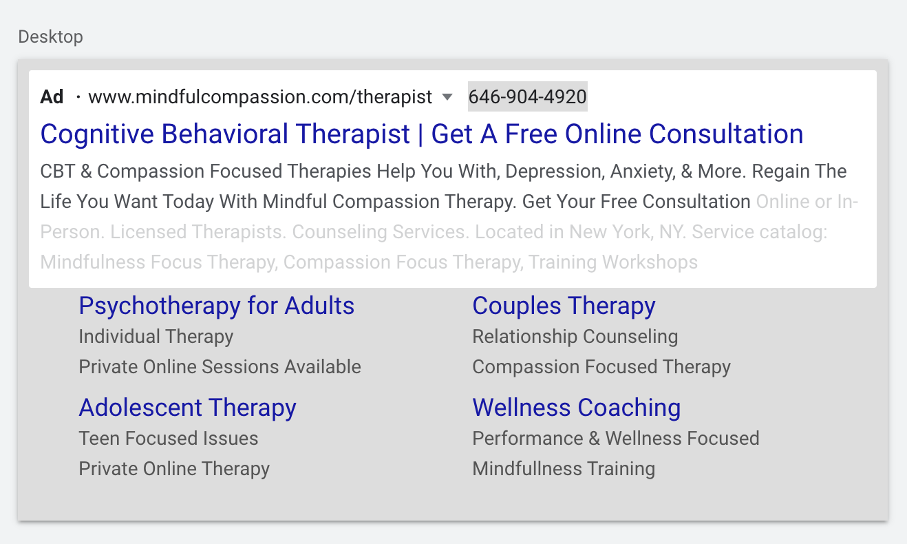 Google Ads For Therapists: 7 Steps To Book More Clients 6