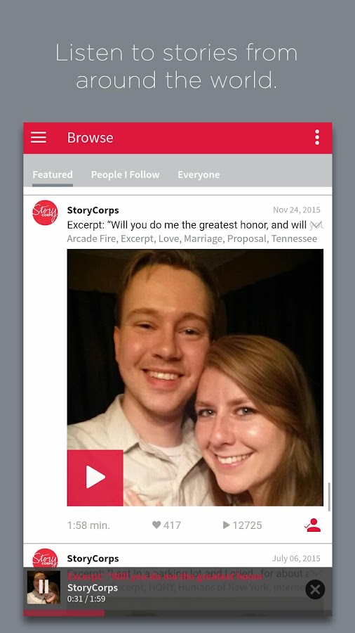StoryCorps- screenshot