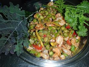 Photo: Salade de grosses crevettes façon Thaï