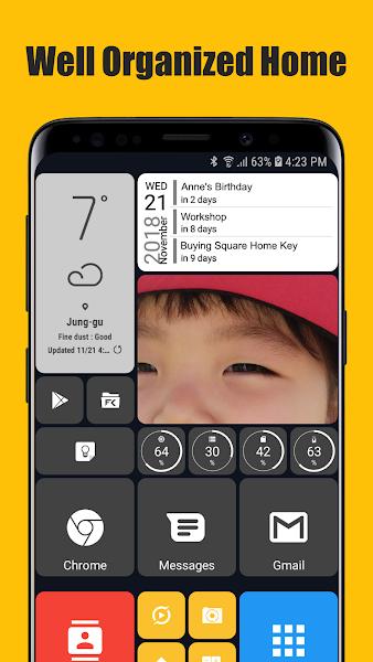 Download APK: Square Home 3 – Launcher : Windows style v2.0.3 [Premium]