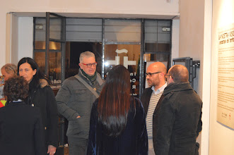 Photo: Con el poeta Alessio Brandollini, entre otros.