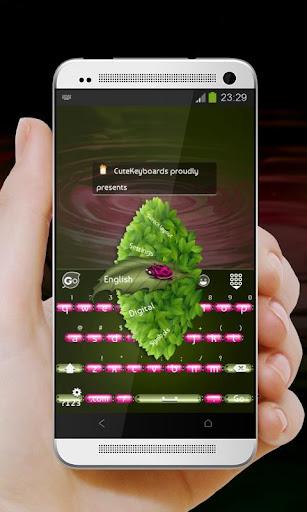 Pink ladybug GO Keyboard