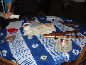 Photo: Table is set for house blessing