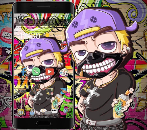 Graffiti Cartoon Theme 1.1.5 screenshots 2