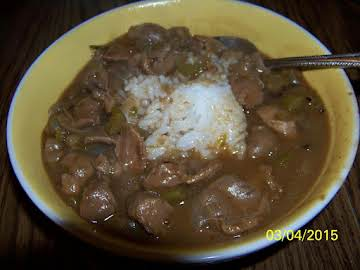 David's gizzards and gravy over rice