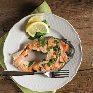 Grilled Salmon Steaks.