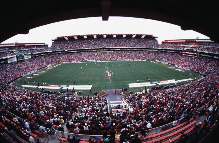 General view of a packed Ellis Park Stadium in Johannesburg.