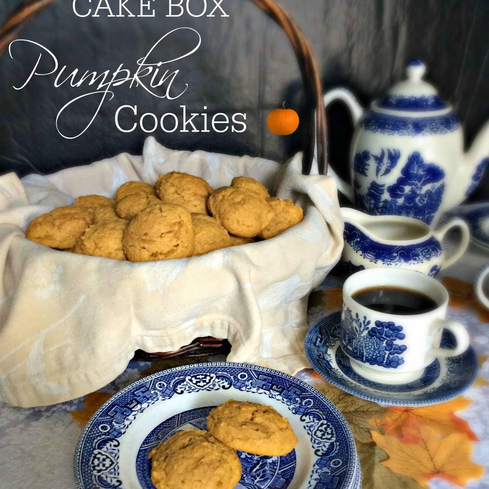 Cake Box Pumpkin Cookies