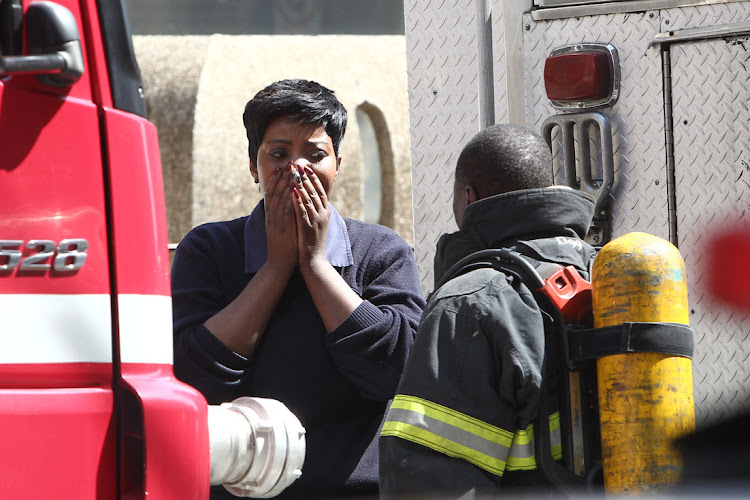 Three firefighters have been confirmed dead in the blaze in the building that houses the Gauteng department of health in the Johannesburg CBD on September 5, 2018.
