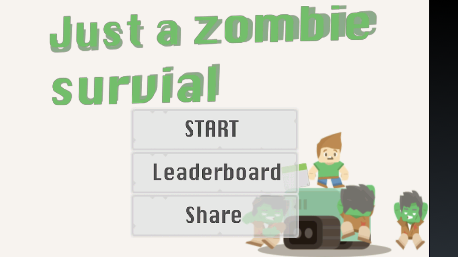 Just a Zombie Survival!- screenshot