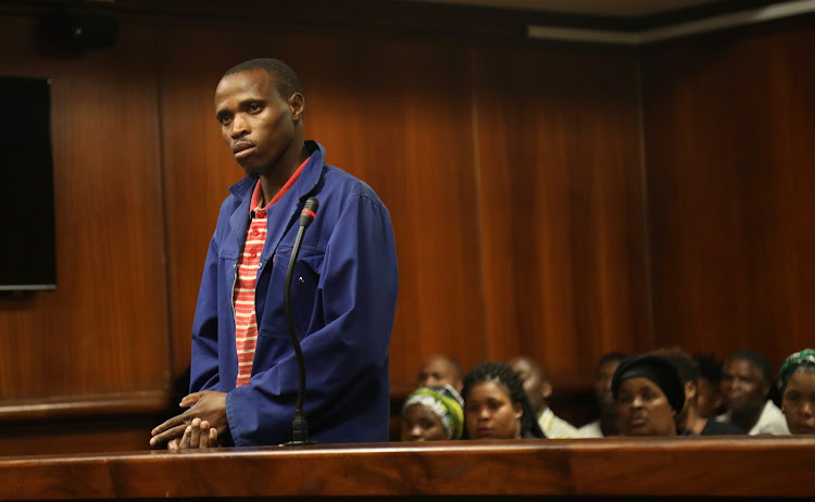 Thembelani Mtengwana appears in the Verulam Magistrate's Court on Monday where he stands accused of killing one-year-old Sibongakonke Mduduzi.