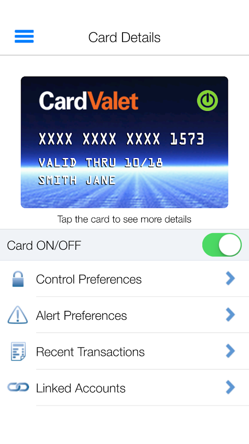 CardValet- screenshot