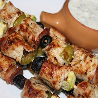 Skewers With Vegetables And Turkey