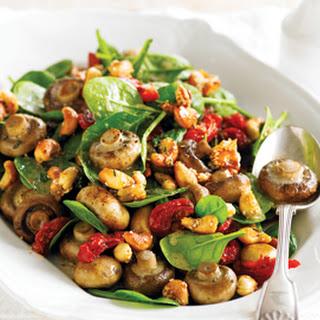 Roasted Mushrooms, Tomato and Cashew Salad