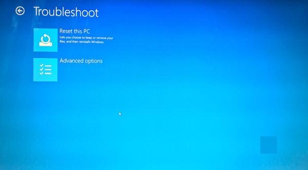 reset lại Windows