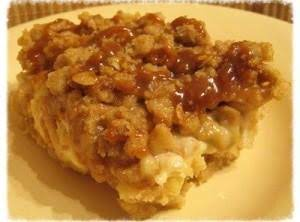 Caramel Apple Cheesecake Bars with Streusel