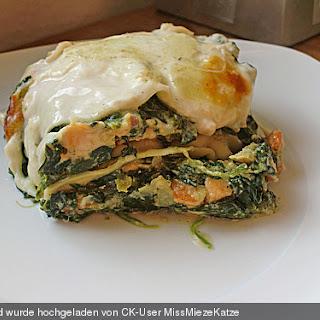 Lachs - Garnelen - Spinat - Lasagne