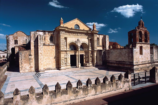 The Cathedral of Santa María la Menor in the Colonial Zone of Santo Domingo is the oldest cathedral in the Americas, completed in 1540.