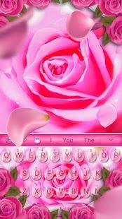 [Download Pink Rose Keyboard Theme for PC] Screenshot 1