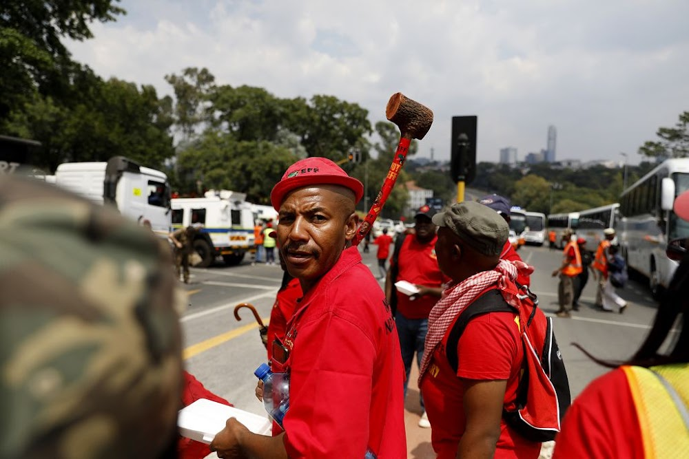 A sea of red, an EFF three-piece suit and crop top T-shirts: This is how the 'red tide' descended on Eskom - TimesLIVE