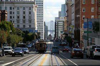 Photo: Down California Street through the Financial District