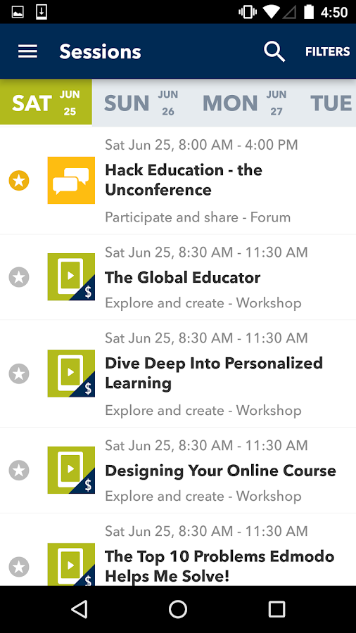 ISTE 2016 Conference & Expo- screenshot