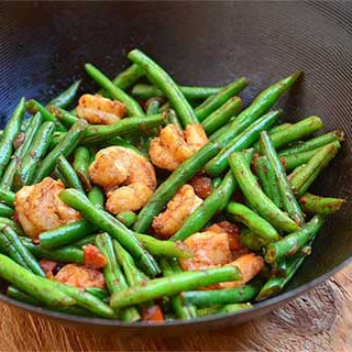 Shrimps Stir-Fry with Green Beans