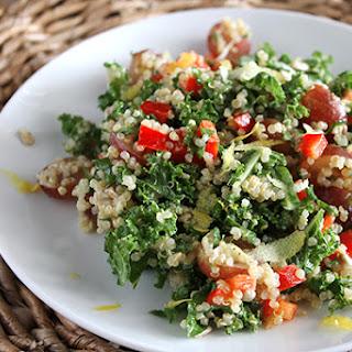 Quinoa and Kale Salad with Lemon Vinaigrette Recipe