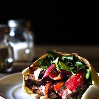 Flank Steak Pita Recipe with Shawarma Spices