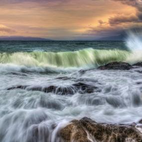 Winter Storm at Adriatic Sea  by Siniša Biljan - Landscapes Waterscapes (  )