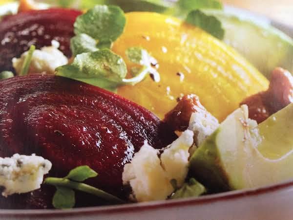 Beet, Feta, Avocado Salad