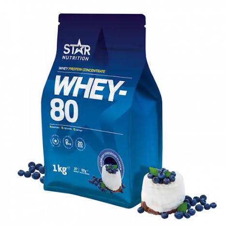 Star Nutrition Whey 80 1kg - Blueberry Cheescake