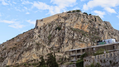 Photo: There are 3 Venetian era castles in Nafplio. This one is the fortress of Palamadi. Just below it is an abandoned and very graffitied former resort. Very Greek if you ask me.