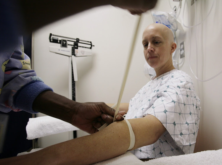 Side-effects countered: A patient undergoes chemotherapy. Filgrastim counters one of the side-effects of chemotherapy drugs, which can disrupt the production of neutrophils. Picture: REUTERS/JIM BOURG