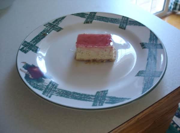 Diabetic Raspberry Cheesecake Bars