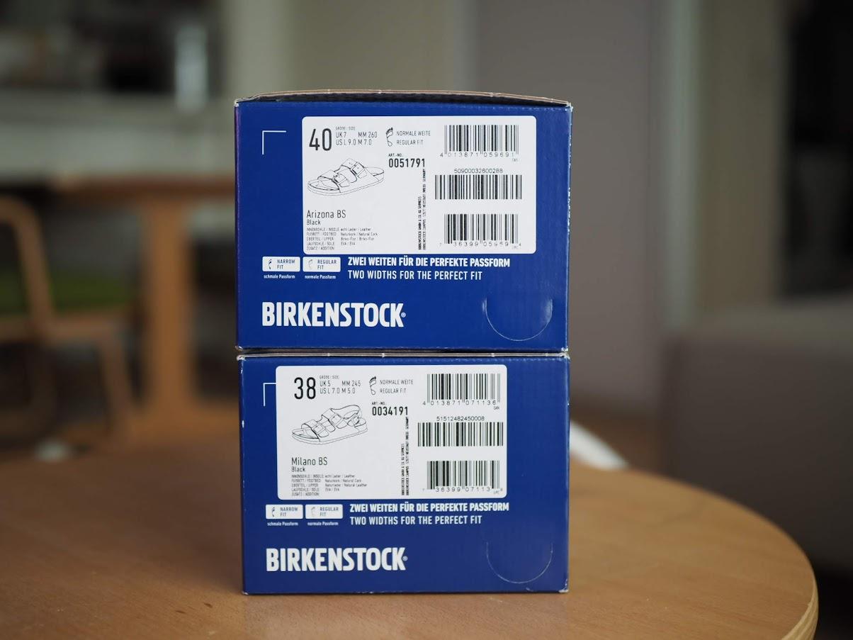 ビルケンシュトックの箱