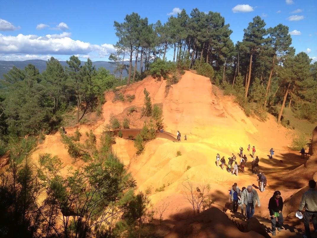 Тропа охры (Sentier des Ocres), Русийон, Прованс - фото, описание
