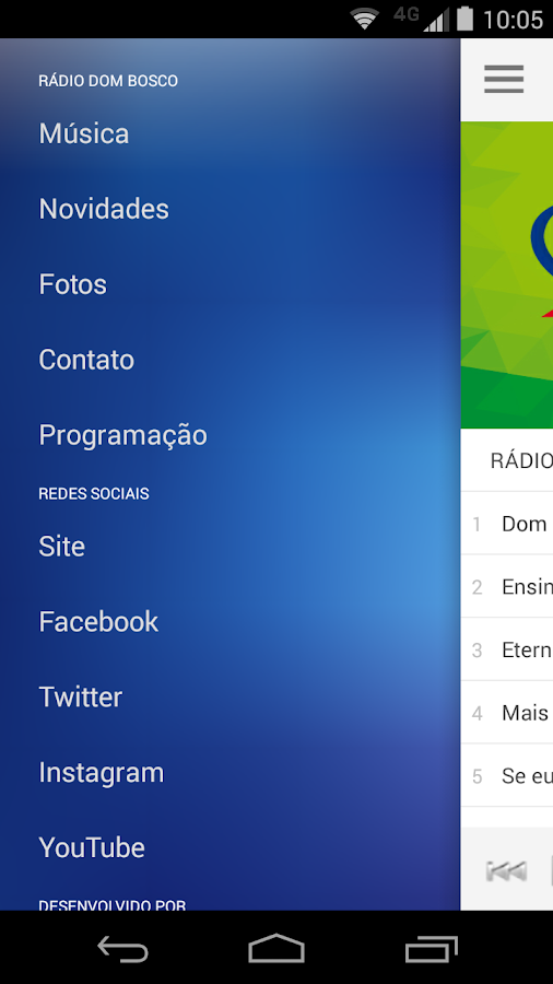 DomBosco FM- screenshot