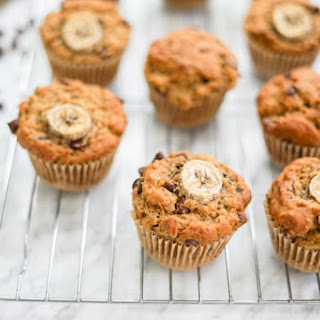Vegan Multigrain Banana Chocolate Chip Muffins | Gluten-Free Option | Soy-Free | Low Sugar.