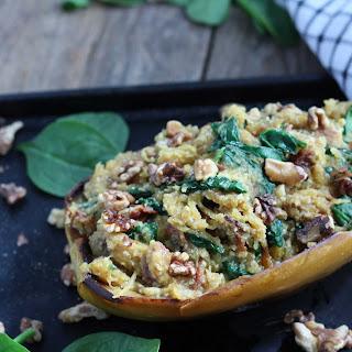 Parmesan, Spinach, Bacon Spaghetti Squash Boat Recipe