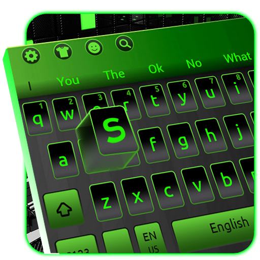 Black Green Tech keyboard