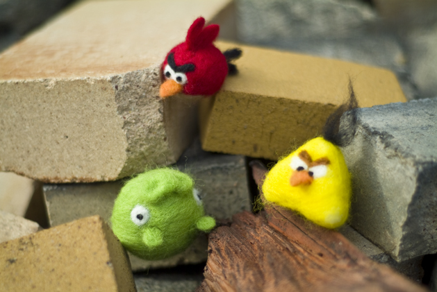 Photo: My needlefelted angry birds. Tutorial on Craftzine.com.