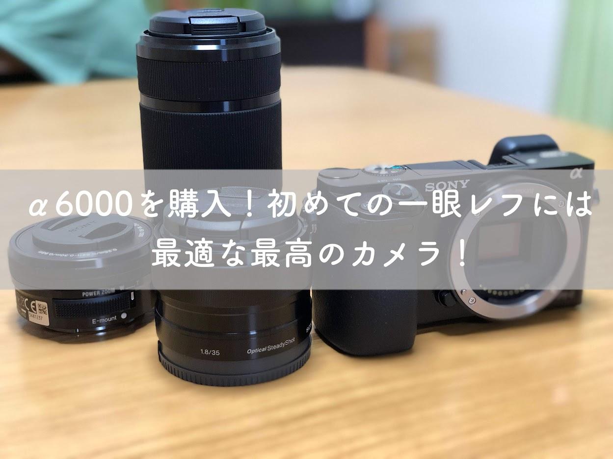 α6000を購入!初めての一眼には最適な最高のカメラ!