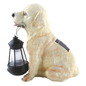 Lampa solara LED - caine cu felinar