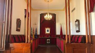 Salón de plenos del ayuntamiento cuevano.