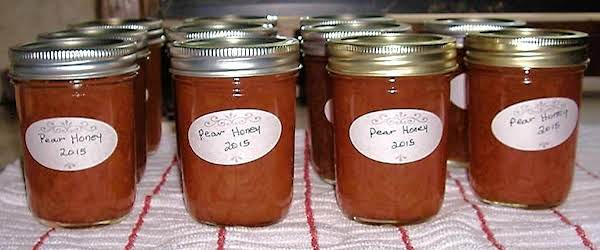 Granny's Pear Honey - Mw Recipe