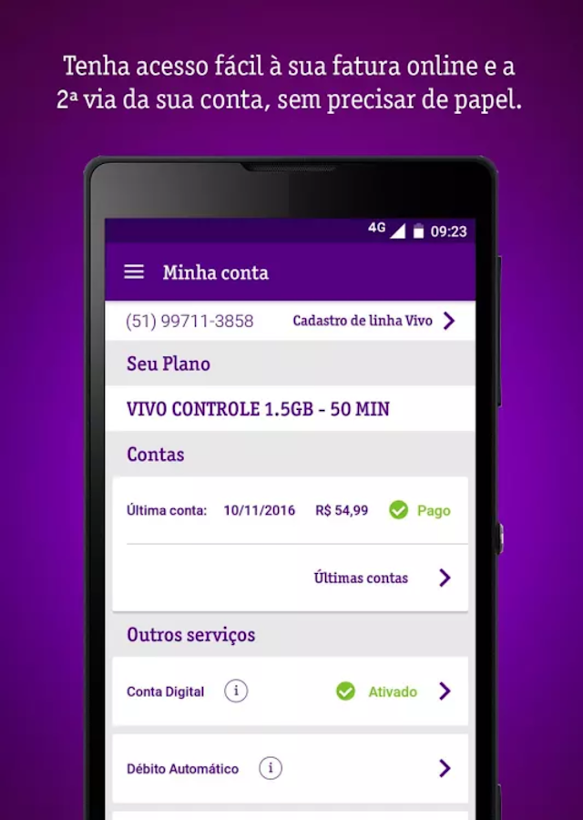 Meu Vivo Móvel- screenshot